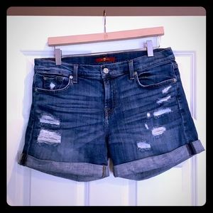 7 for all mankind jean shorts size 29